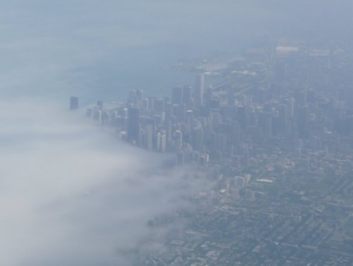 Chicago vue du ciel, par E. Liard (CC BY)