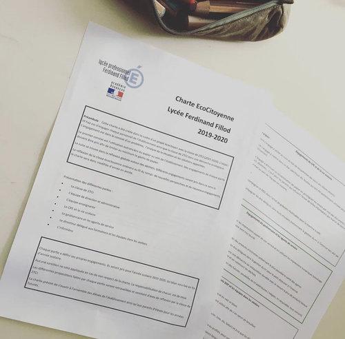 charte écocitoyenne lycée