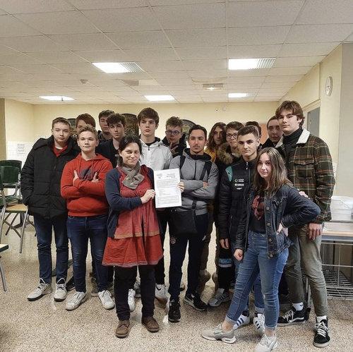 eleves lycee pro charte ecocitoyenne